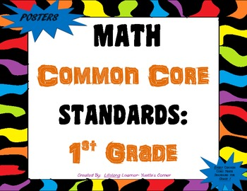 COMMON CORE MATH Posters (1st Grade)
