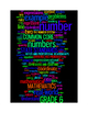 COMMON CORE MATHEMATICS - GRADE 6 - 3 WORDLE POSTERS - BLA