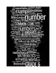 COMMON CORE MATHEMATICS - GRADE 6 - 6 WORDLE POSTERS - WHI