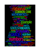 COMMON CORE MATHEMATICS - GRADE 7 - 3 WORDLE POSTERS - BLA