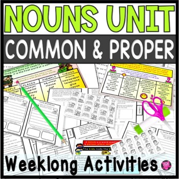 Common and Proper Noun Lessons and Activities with Tab Boo