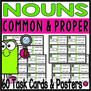 COMMON and PROPER NOUNS TASKS POSTERS and ACTIVITIES SET