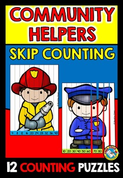 LABOR DAY ACTIVITIES: COMMUNITY HELPERS SKIP COUNTING PUZZ