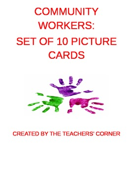Community Workers: Set of 10 Picture Cards