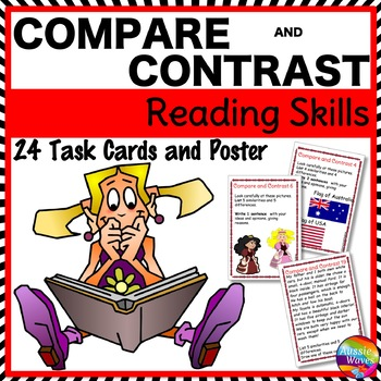 COMPARE and CONTRAST Task Cards to Improve READING COMPREH