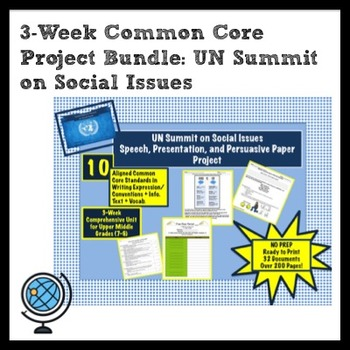 3-Week Project BUNDLE: UN Summit on Social IssuesPersuasiv