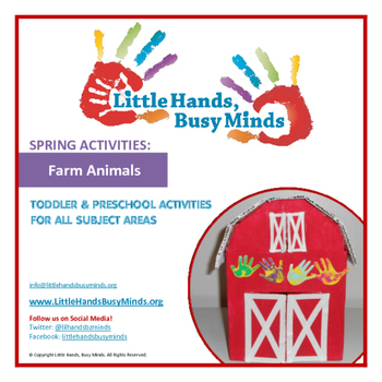 SPRING Activities: COMPLETE FARM ANIMALS Thematic Unit for