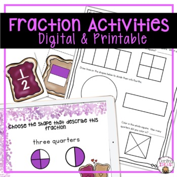 COMPLETE ONE WEEK FRACTIONS UNIT FOR FIRST GRADE