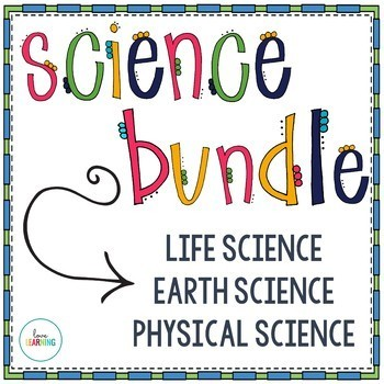 Science Bundle for the YEAR {with Interactive Notes}