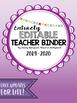 Editable Teacher Planner 2016-2017- Ombre