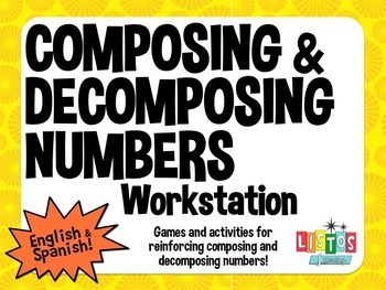 COMPOSING & DECOMPOSING NUMBERS Workstation - English & Spanish