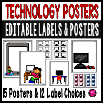 TECHNOLOGY BULLETIN BOARD POSTERS for CLASSROOMS COMPUTER