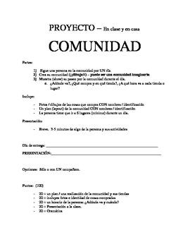 COMUNIDAD - proyecto / Community project