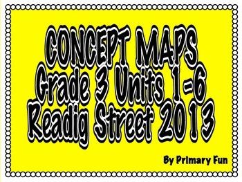 CONCEPT MAPS- UNITS 1- 6- 3rd GRADE READING STREET (2013)