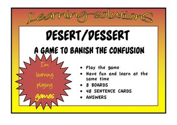 CONFUSED WORDS GAME desert-dessert