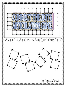 "SPEECH THERAPY CONNECT THE DOTS ""TH"" ARTICULATION GAME"
