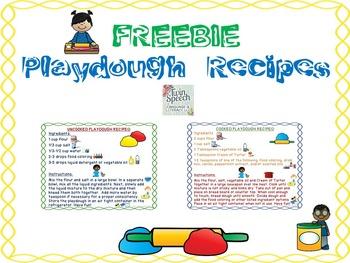 FREEBIE! HOMEMADE PLAYDOUGH RECIPES