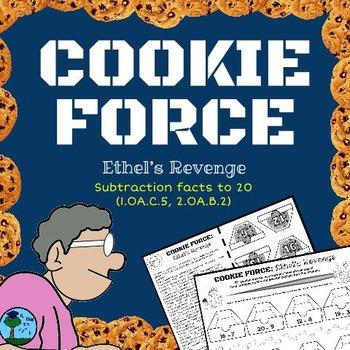 COOKIE FORCE: Ethel's Revenge (NO PREP math: subtraction f