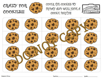 COOKIE PARTY BOX TOP COLLECTION SHEET