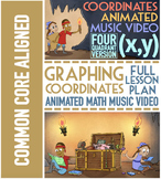 Coordinate Plane Graphing: Worksheets, Song, & Games ALL F