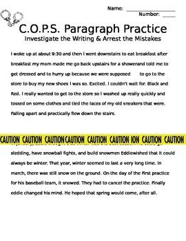 COPS editing worksheet