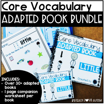 CORE Vocabulary Adapted Book **Growing BUNDLE