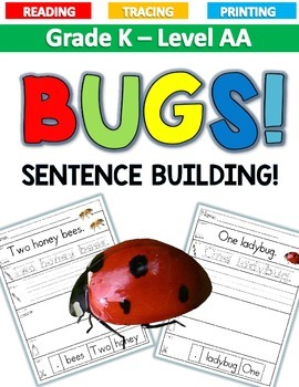 COUNTING BUGS Sentence Building LEVEL AA