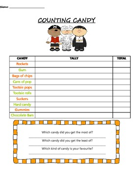 COUNTING CANDY SHEET