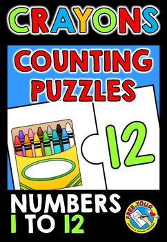 COUNTING CENTER: CRAYONS COUNTING PUZZLES:KINDERGARTEN BAC