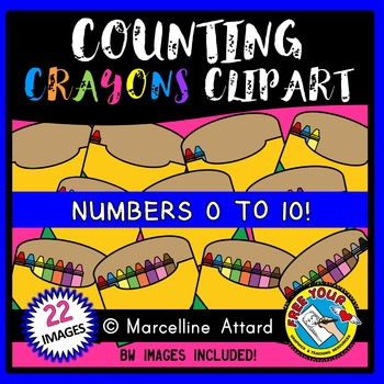 COUNTING CLIPART: COUNTING CRAYONS CLIPART: BACK TO SCHOOL