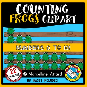 MATH CLIPART: COUNTING CLIPART: COUNTING FROGS CLIPART: FR