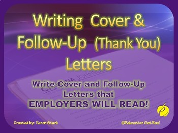 "COVER LETTER POWERPOINT  ""Cover & Follow-Up Letters Employ"