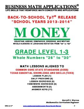 CPM: GRADE LEVEL 1 to 3_WHOLE NUMBER OPERATIONS_26 to 30