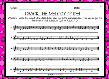 CRACK THE MELODY CODE!  MELODIC DECODING ACTIVITY FOR CHOR
