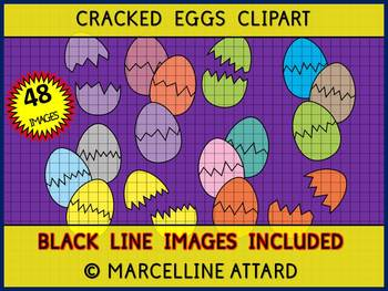 EASTER CLIPART: CRACKED EGGS PUZZLES CLIPART