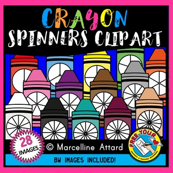 CRAYON SPINNERS CLIPART: BACK TO SCHOOL CLIPART