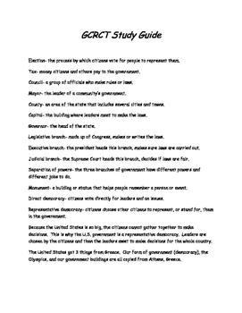 CRCT Study Guide 3rd Grade Social Studies
