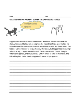 CREATIVE WRITING PROMPT: COPPER THE CAT GOES TO SCHOOL
