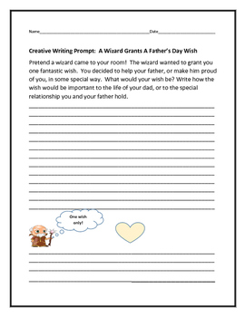 CREATIVE WRITING PROMPT: FATHER'S DAY