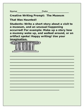 CREATIVE WRITING PROMPT: THE MUSEUM THAT WAS HAUNTED