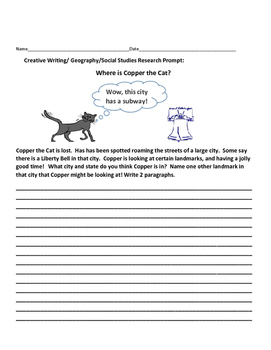 CREATIVE WRITING/SOCIAL STUDIES RESEARCH PROMPT: COPPER TH