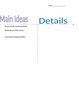 CRISS Two Column Notes about Supporting Conclusions before
