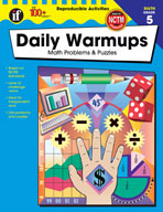 Daily Warmups Math Problems, Grade 5