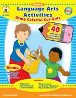 Language Arts Activities with Cut-Outs Kindergarten