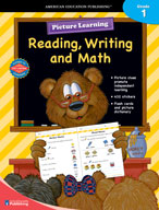 Picture Learning Reading, Writing, and Math for Grade 1
