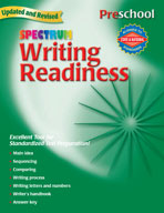 Spectrum Writing Readiness, Preschool