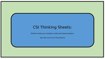 CSI Thinking Sheets