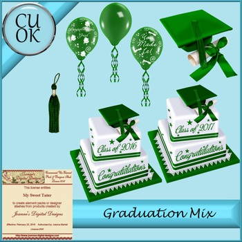 CU Graduation Mix Green
