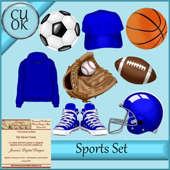 CU Sports Clipart Graphics Blue