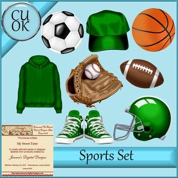 CU Sports Clipart Graphics Green